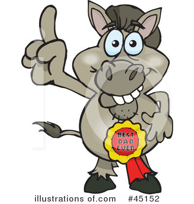 Donkey Clipart #45152 by Dennis Holmes Designs