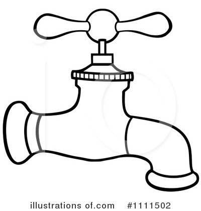 Faucet Clipart #1111502 - Illustration by Hit Toon
