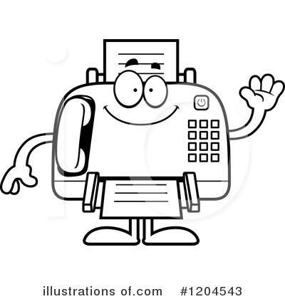 fax machine clipart 1204543 illustration by cory thoman rh illustrationsof com clipart fax gratuit fox clipart black and white