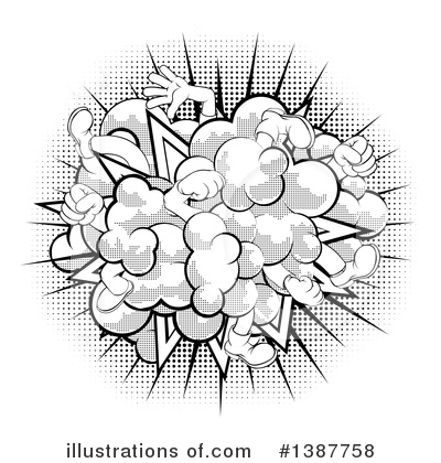 Royalty-Free (RF) Fight Clipart Illustration by AtStockIllustration - Stock Sample #1387758