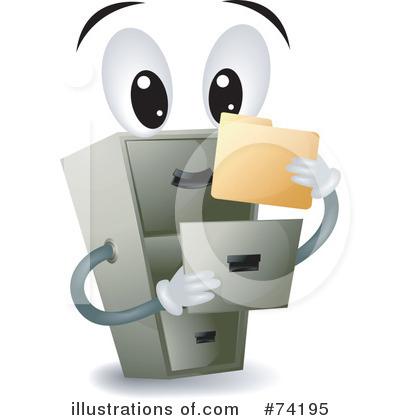 Filing Cabinet Clipart #74195 - Illustration by BNP Design Studio