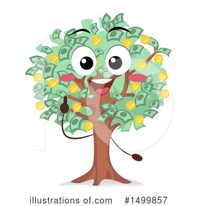 Money Tree Clipart #1499857 by BNP Design Studio
