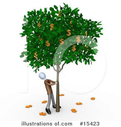 Money Tree Clipart #15423 by 3poD