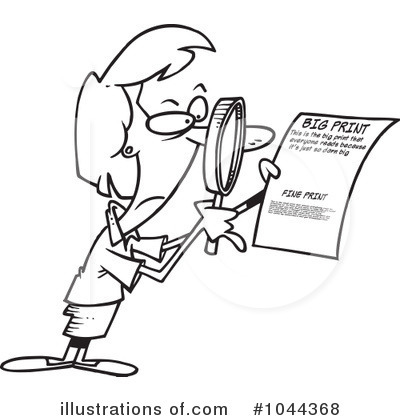 Fine Print Clipart #1044368 - Illustration by Ron Leishman