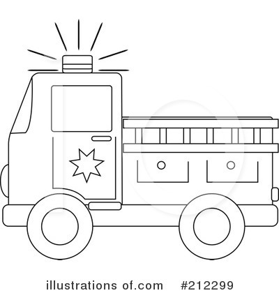 Fire Truck Clipart #212299 - Illustration by Pams Clipart