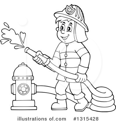 royalty free rf fireman clipart illustration 1315428 by visekart - Firefighter Coloring Book