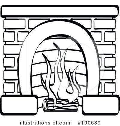 Excellent Fireplace Clipart 100689 Illustration By Andy Nortnik Best Image Libraries Ponolprimenicaraguapropertycom