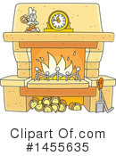 Fireplace Clipart #1455635 by Alex Bannykh