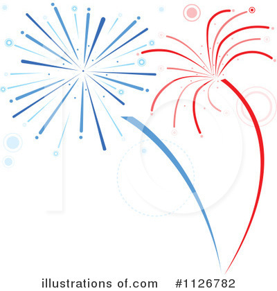 Fireworks Clipart #1126782 - Illustration by dero