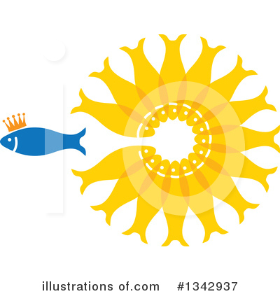 Royalty-Free (RF) Fish Clipart Illustration by ColorMagic - Stock Sample #1342937