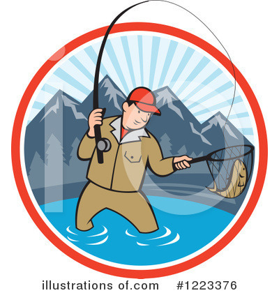 Fishing Clipart #1223376 by patrimonio