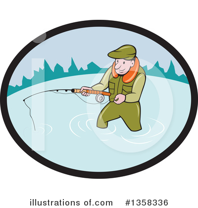 Fishing Clipart #1358336 by patrimonio