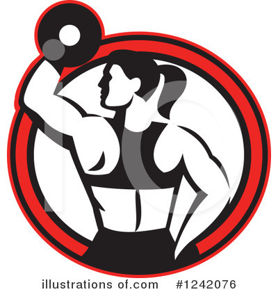 Weightlifting Clipart #1242076 by patrimonio