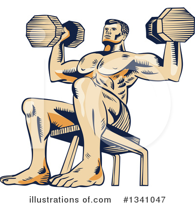 Bodybuilder Clipart #1341047 by patrimonio