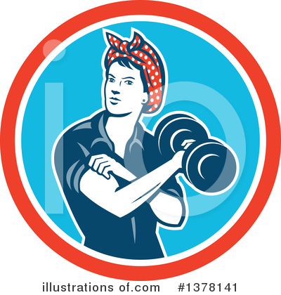 Weightlifting Clipart #1378141 by patrimonio