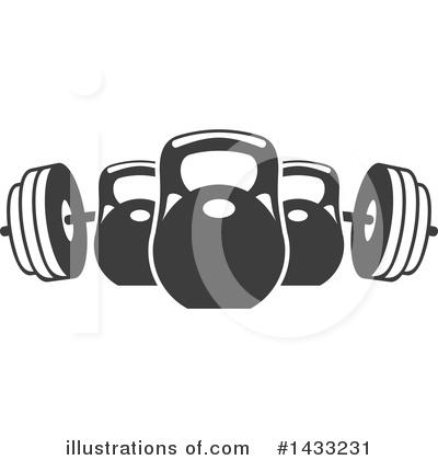 Kettlebell Clipart #1434757 - Illustration by Vector ...