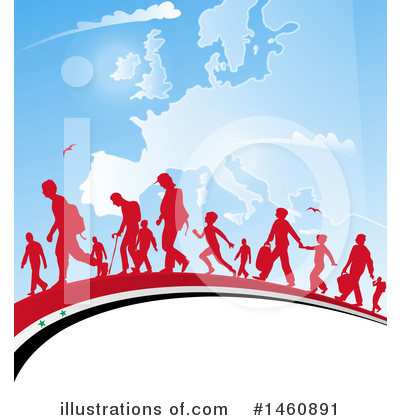 Refugee Clipart #1460891 by Domenico Condello