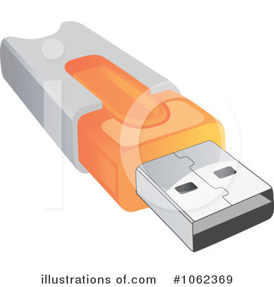 Flash Drive Clipart #1062369 - Illustration by Vector Tradition SM