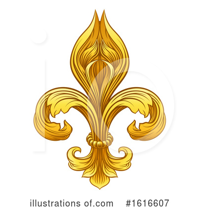 Royalty-Free (RF) Fleur De Lis Clipart Illustration by AtStockIllustration - Stock Sample #1616607