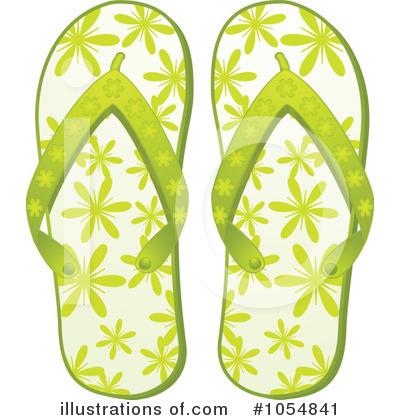 Flip Flops Clipart #1054841 - Illustration by elaineitalia