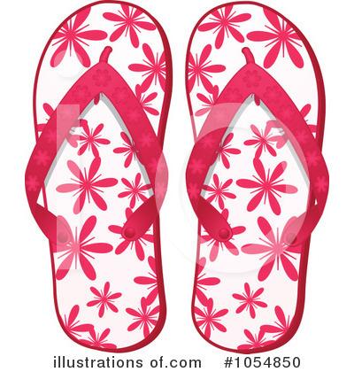 Flip Flops Clipart #1054850 - Illustration by elaineitalia