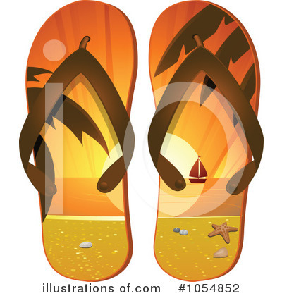 2f66305cd04133 Royalty-Free (RF) Flip Flops Clipart Illustration by elaineitalia - Stock  Sample