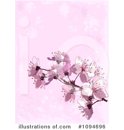 Cherry Blossoms Clipart #1094696 by Pushkin