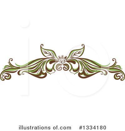 Flourish Clipart #1334180 by Cherie Reve