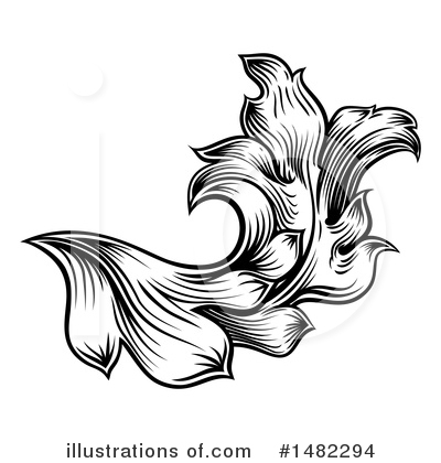 Flourish Clipart #1482294 by AtStockIllustration