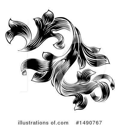 Flourish Clipart #1490767 by AtStockIllustration