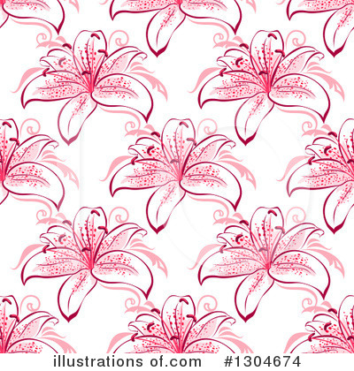 Lilies Clipart #1304674 by Vector Tradition SM