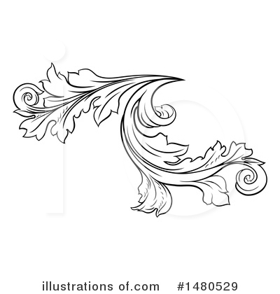 Flourish Clipart #1480529 by AtStockIllustration