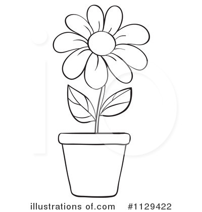 Flower Clipart #1129422 - Illustration by Graphics RF