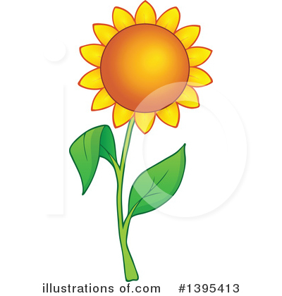 Sunflower Clipart #1395413 by visekart