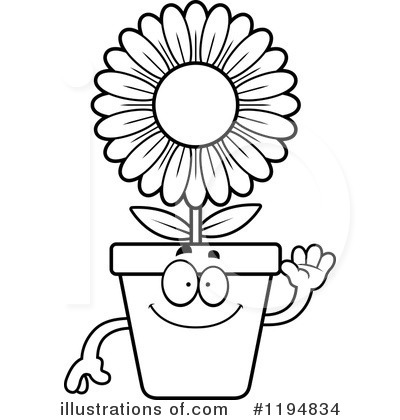 Flower Pot Clipart 1194834 Illustration By Cory Thoman