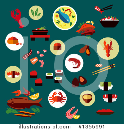 Lobster Clipart #1355991 by Vector Tradition SM