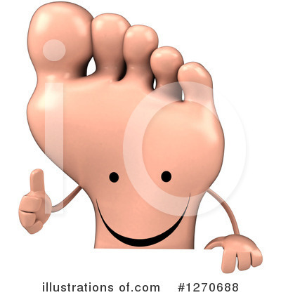 Foot Character Clipart #1270688 by Julos