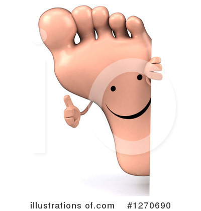 Foot Character Clipart #1270690 by Julos