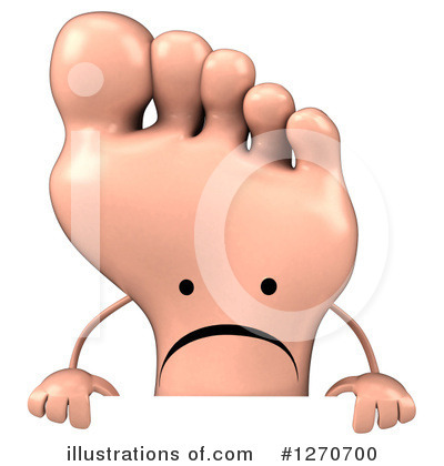 Foot Character Clipart #1270700 by Julos