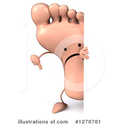 Foot Character Clipart #1270701 by Julos
