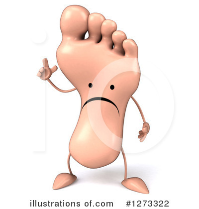 Foot Character Clipart #1273322 by Julos