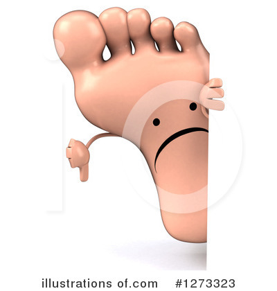 Foot Character Clipart #1273323 by Julos