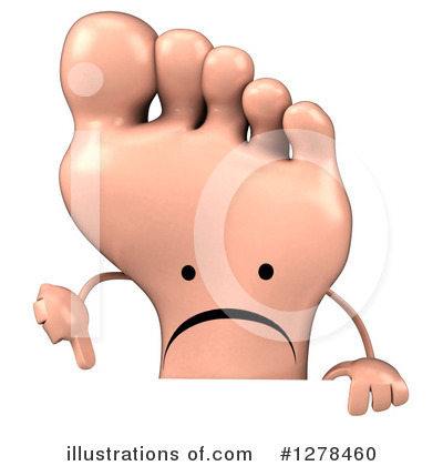 Foot Character Clipart #1278460 by Julos