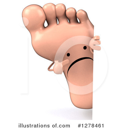 Foot Character Clipart #1278461 by Julos