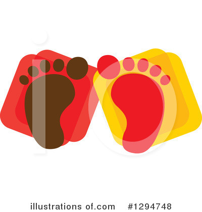 Feet Clipart #1294748 by ColorMagic