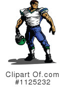 Football Player Clipart #1125232 by Chromaco