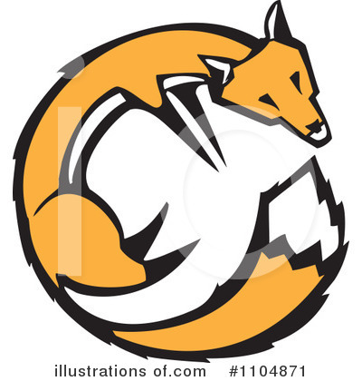Royalty-Free (RF) Fox Clipart Illustration by xunantunich - Stock Sample #1104871