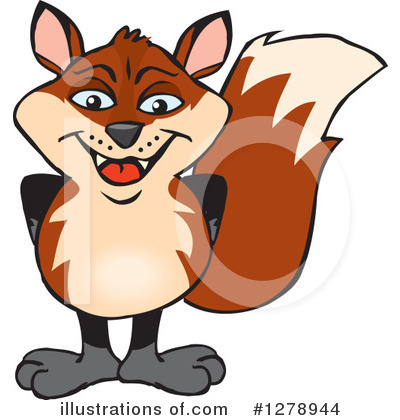 Royalty-Free (RF) Fox Clipart Illustration by Dennis Holmes Designs - Stock Sample #1278944
