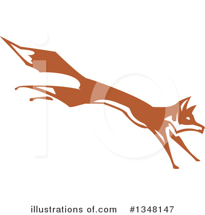 Royalty-Free (RF) Fox Clipart Illustration by xunantunich - Stock Sample #1348147