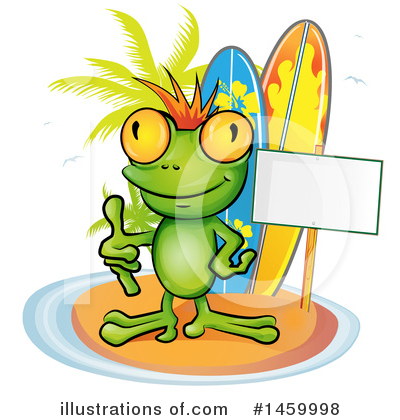 Royalty-Free (RF) Frog Clipart Illustration by Domenico Condello - Stock Sample #1459998